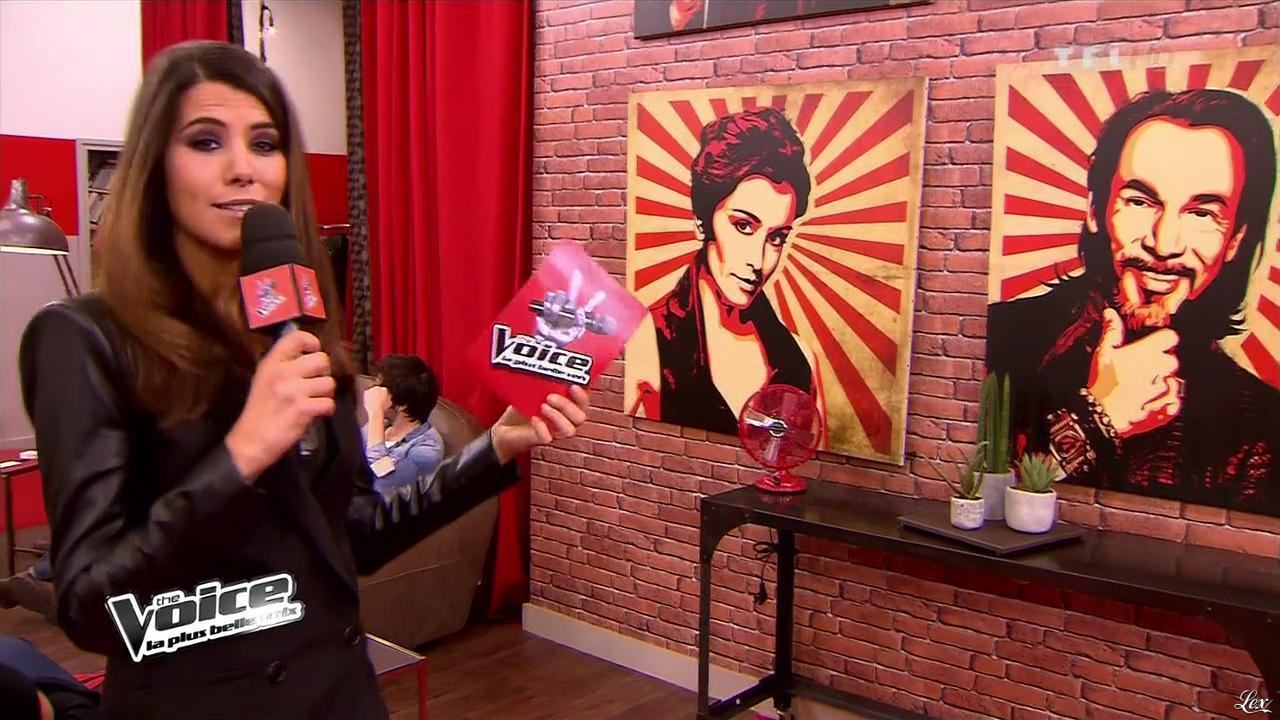 Karine Ferri dans The Voice. Diffusé à la télévision le 02/03/13.