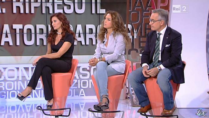 Laura Volpini dans Parliamone in Famiglia. Diffusé à la télévision le 01/10/12.