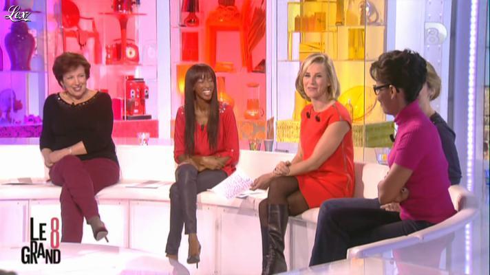 Laurence Ferrari et Hapsatou Sy dans le Grand 8. Diffusé à la télévision le 13/12/12.