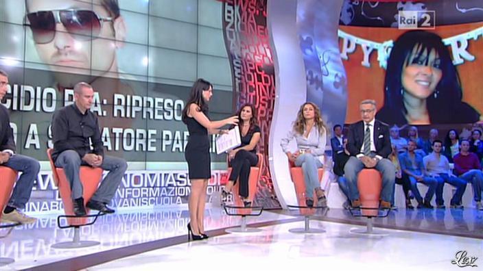 Lorena Bianchetti et Laura Volpini dans Parliamone in Famiglia. Diffusé à la télévision le 01/10/12.