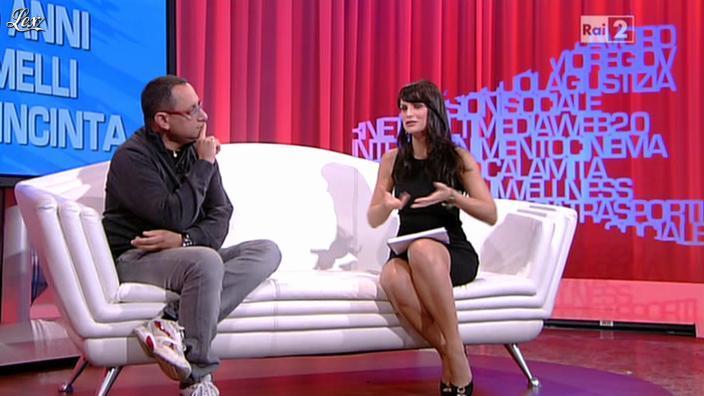Lorena Bianchetti dans Parliamone in Famiglia. Diffusé à la télévision le 01/10/12.