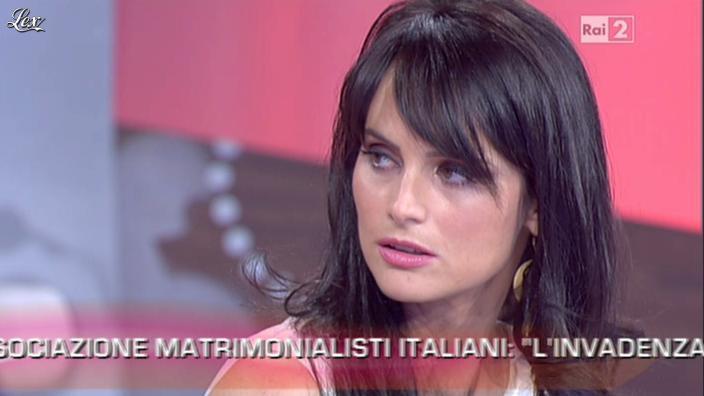 Lorena Bianchetti dans Parliamone in Famiglia. Diffusé à la télévision le 18/09/12.