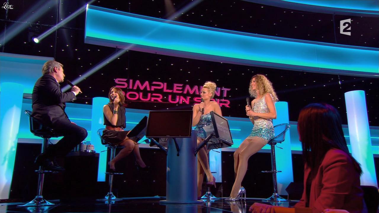 Sophie Thalmann, Virginie Guilhaume et Elodie Gossuin dans Simplement Pour un Soir. Diffusé à la télévision le 30/03/13.