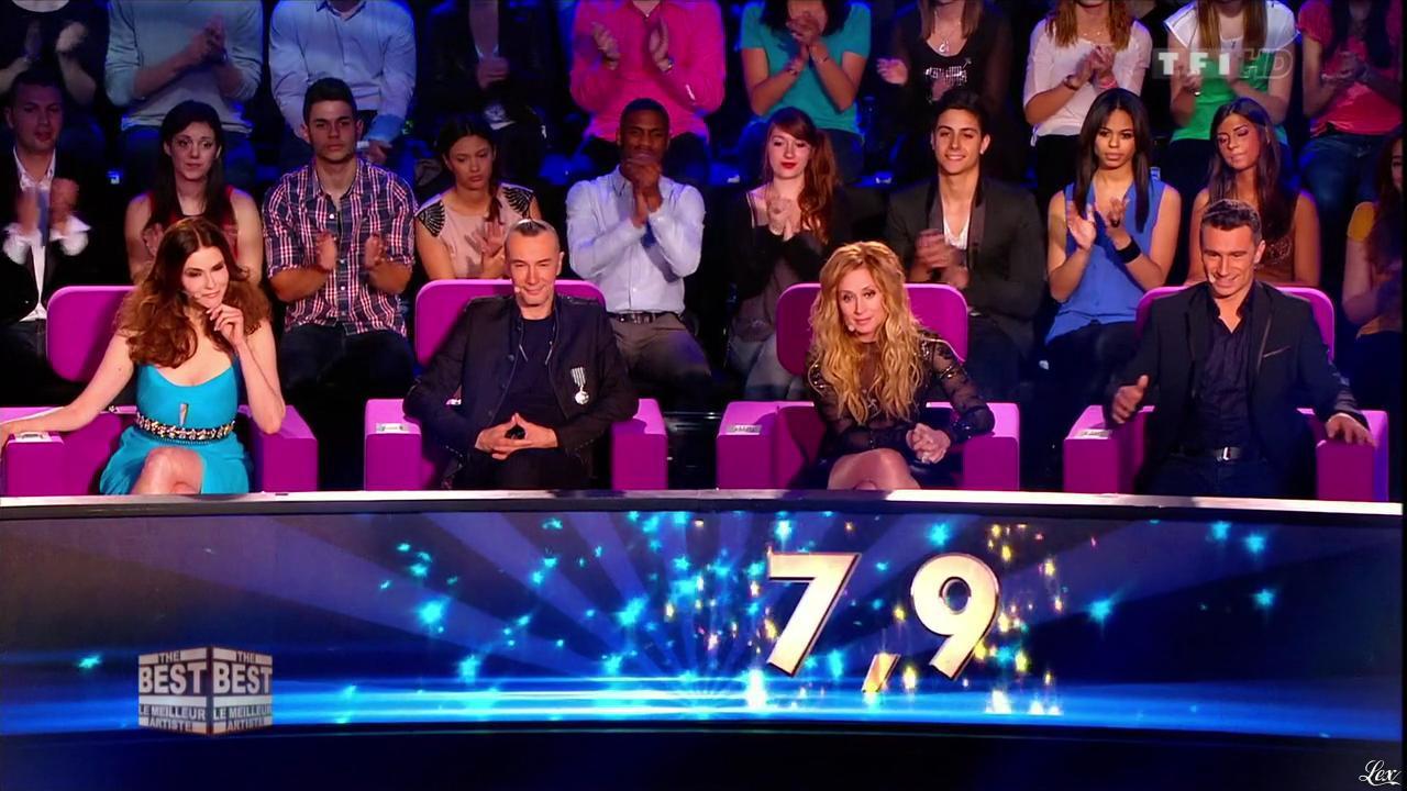 Alessandra Martines et Lara Fabian dans The Best. Diffusé à la télévision le 23/08/13.