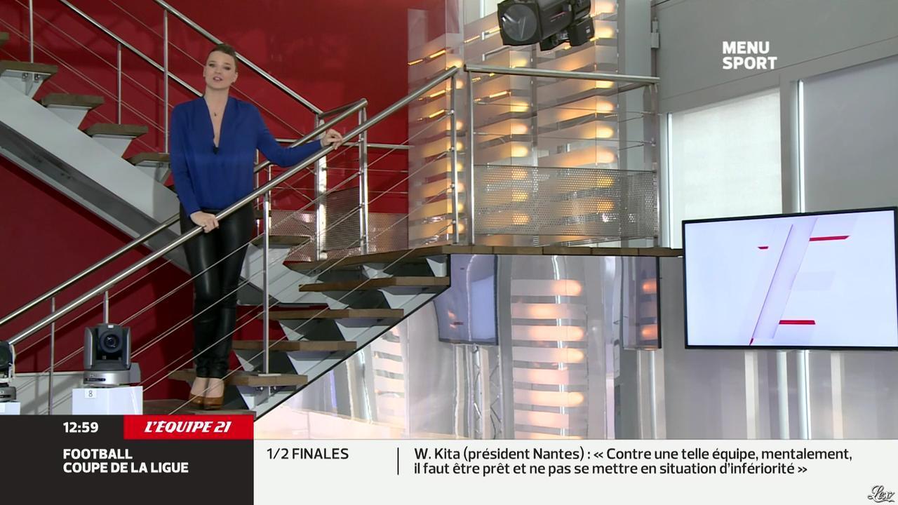 France Pierron dans Menu Sport. Diffusé à la télévision le 04/02/14.