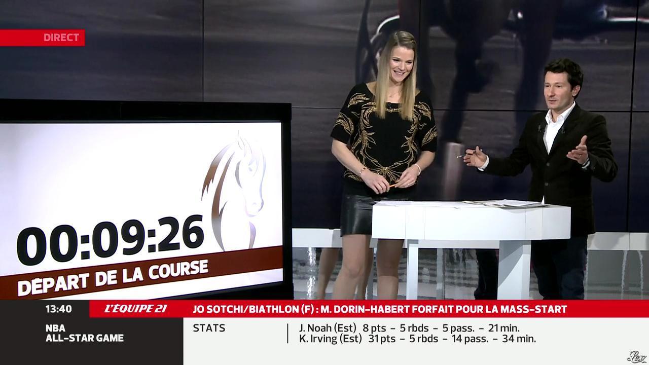 France Pierron dans Menu Sport. Diffusé à la télévision le 17/02/14.