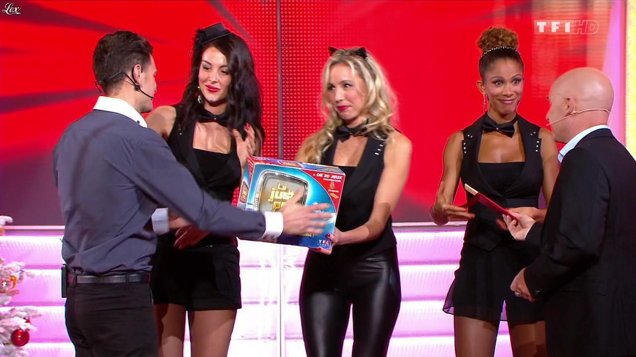 Les Gafettes, Fanny Veyrac, Doris Rouesne et Nadia Aydanne dans le Juste Prix. Diffusé à la télévision le 30/12/13.