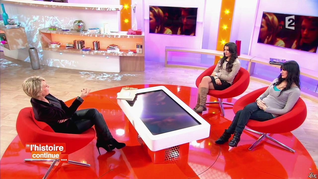 Sophie Davant dans Toute une Histoire. Diffusé à la télévision le 07/02/14.
