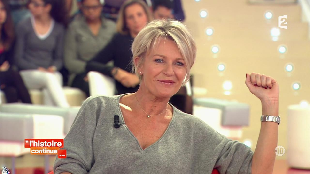 Sophie Davant dans Toute une Histoire. Diffusé à la télévision le 17/01/14.
