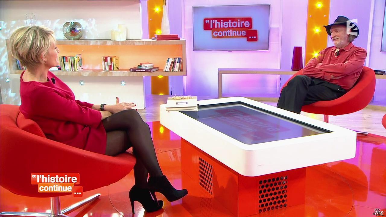 Sophie Davant dans Toute une Histoire. Diffusé à la télévision le 29/01/14.
