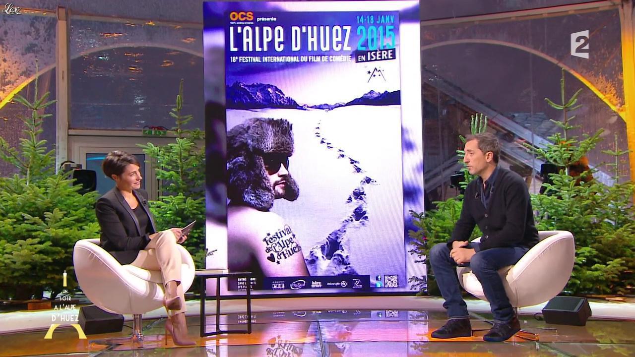 Alessandra Sublet dans un Soir à l'Alpe d'Huez. Diffusé à la télévision le 22/01/15.