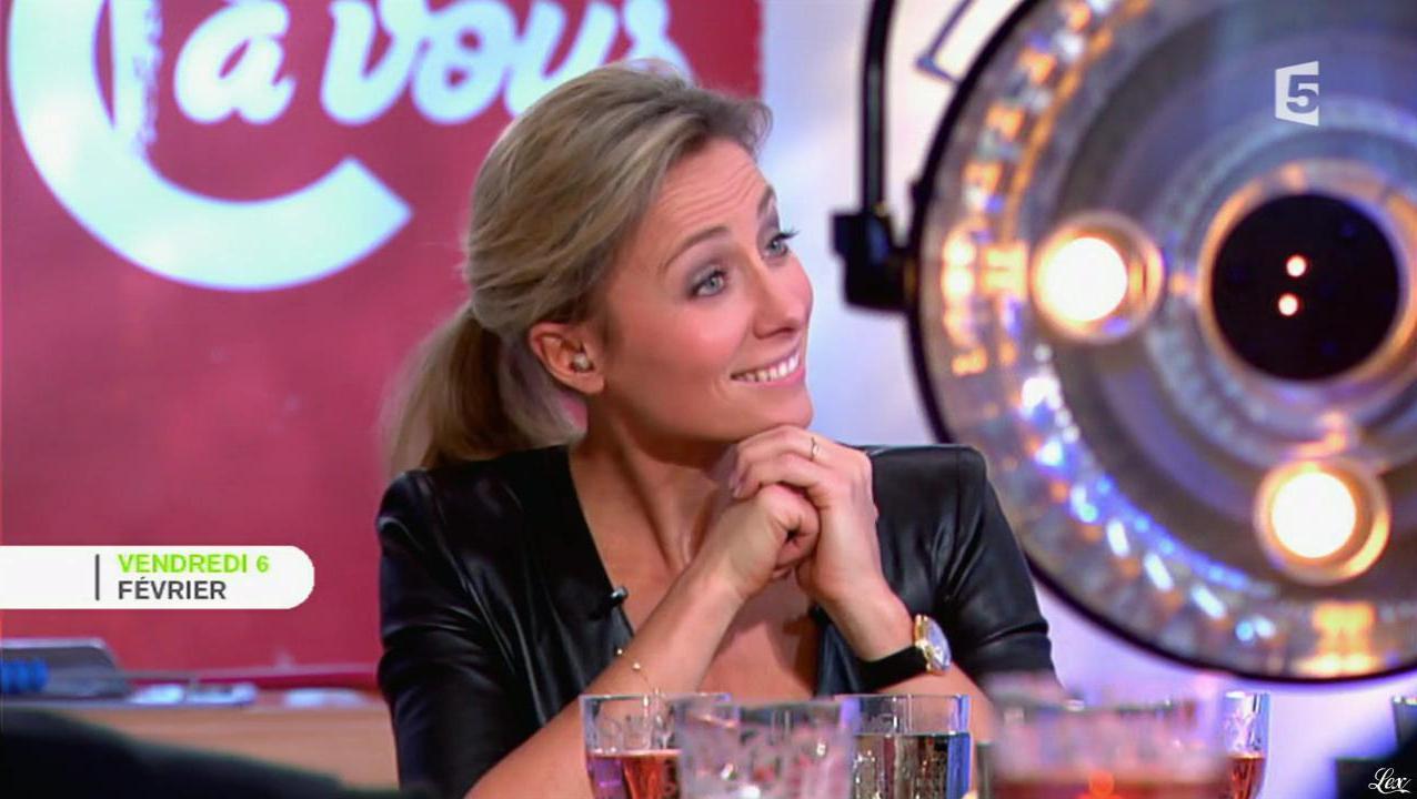 Anne-Sophie Lapix dans C à Vous le Best Of. Diffusé à la télévision le 07/02/15.