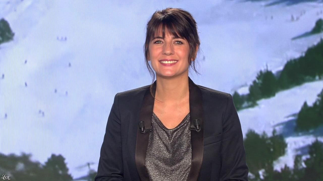 Estelle Denis lors du Tirage du Loto. Diffusé à la télévision le 28/01/15.