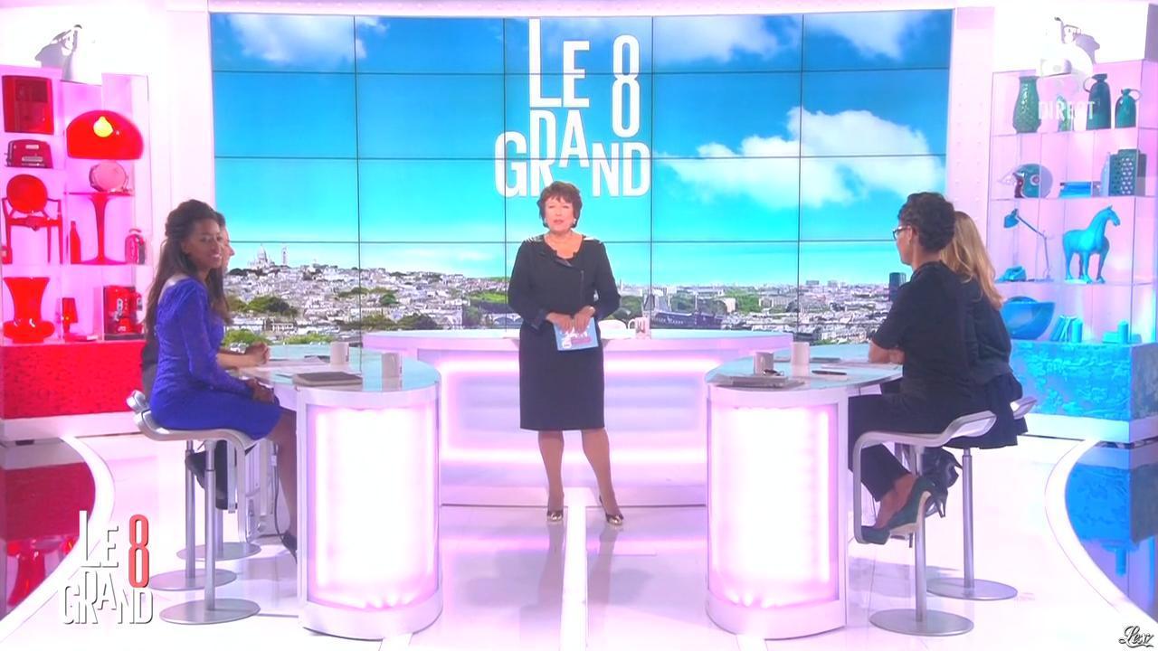 Hapsatou Sy et Audrey Pulvar dans le Grand 8. Diffusé à la télévision le 29/10/14.