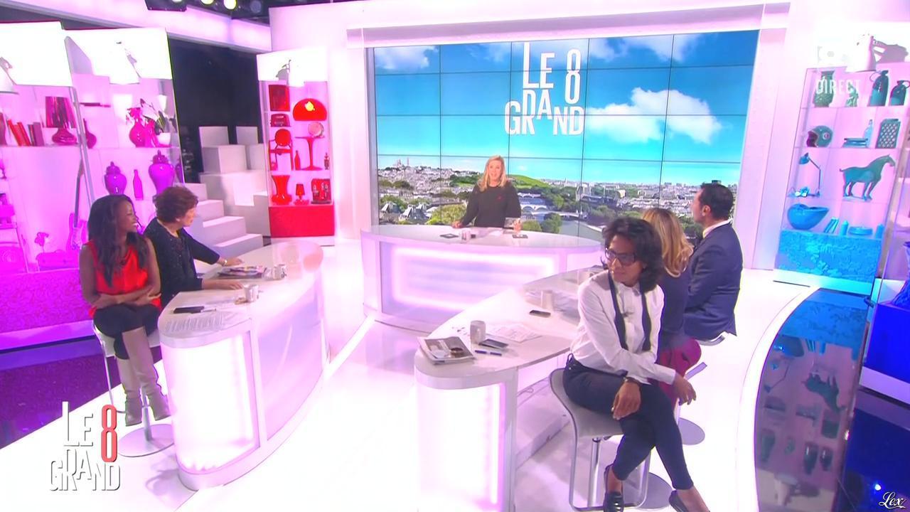 Laurence Ferrari, Hapsatou Sy et Audrey Pulvar dans le Grand 8. Diffusé à la télévision le 01/12/14.