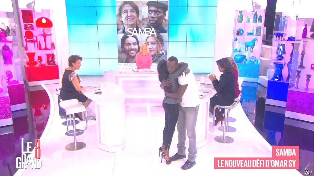 Laurence Ferrari, Hapsatou Sy et Audrey Pulvar dans le Grand 8. Diffusé à la télévision le 11/11/14.