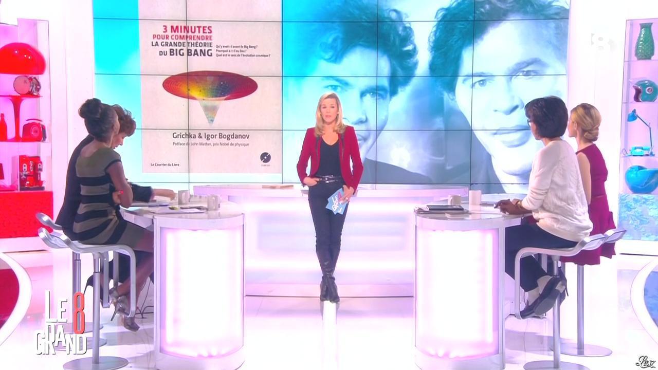 Laurence Ferrari et Hapsatou Sy dans le Grand 8. Diffusé à la télévision le 13/01/15.
