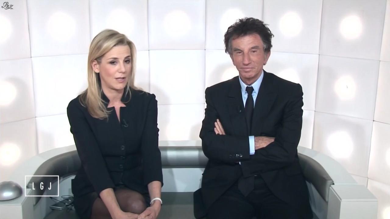 Laurence Ferrari dans le Grand Journal de Canal Plus. Diffusé à la télévision le 19/01/15.