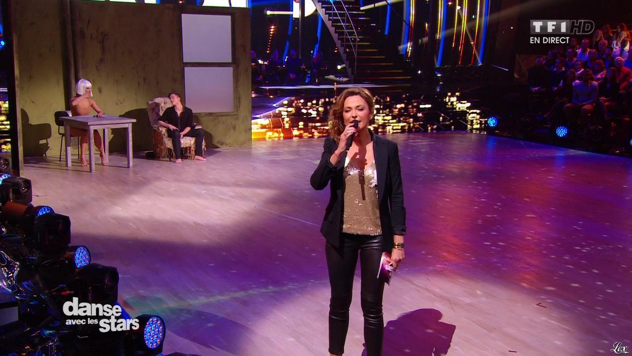 Sandrine Quétier dans Danse avec les Stars. Diffusé à la télévision le 21/11/15.