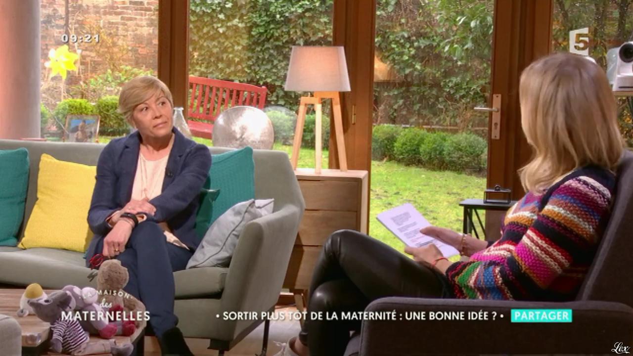 Agathe Lecaron dans la Maison des Maternelles. Diffusé à la télévision le 03/03/17.