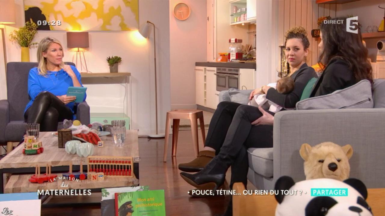 Agathe Lecaron dans la Maison des Maternelles. Diffusé à la télévision le 07/03/17.