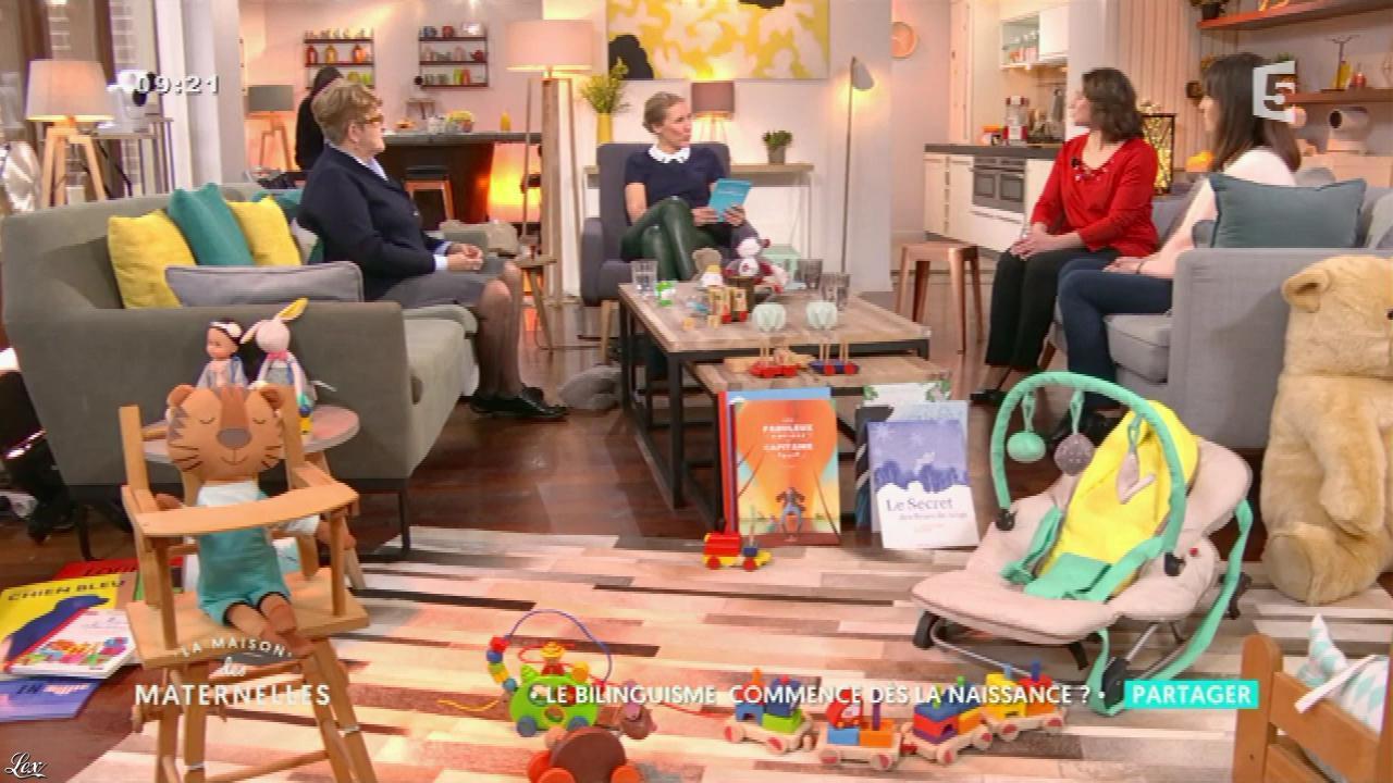 Agathe Lecaron dans la Maison des Maternelles. Diffusé à la télévision le 10/02/17.