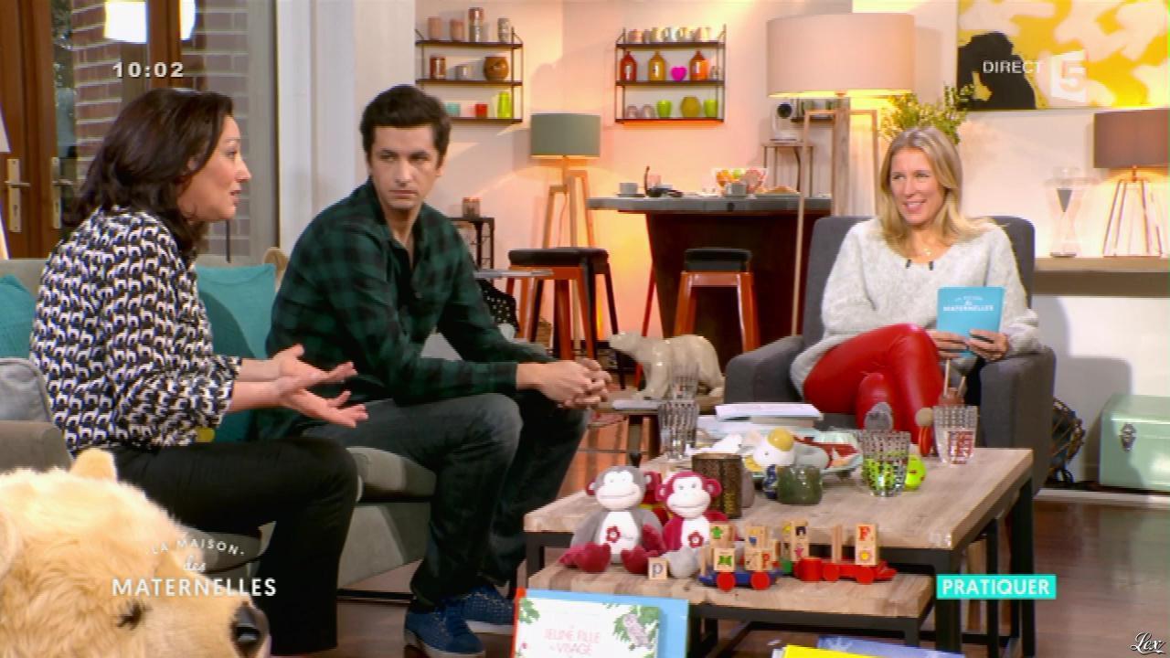 Agathe Lecaron dans la Maison des Maternelles. Diffusé à la télévision le 12/01/17.