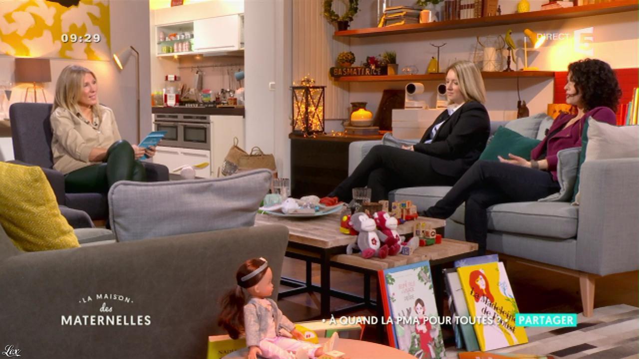 Agathe Lecaron dans la Maison des Maternelles. Diffusé à la télévision le 16/01/17.