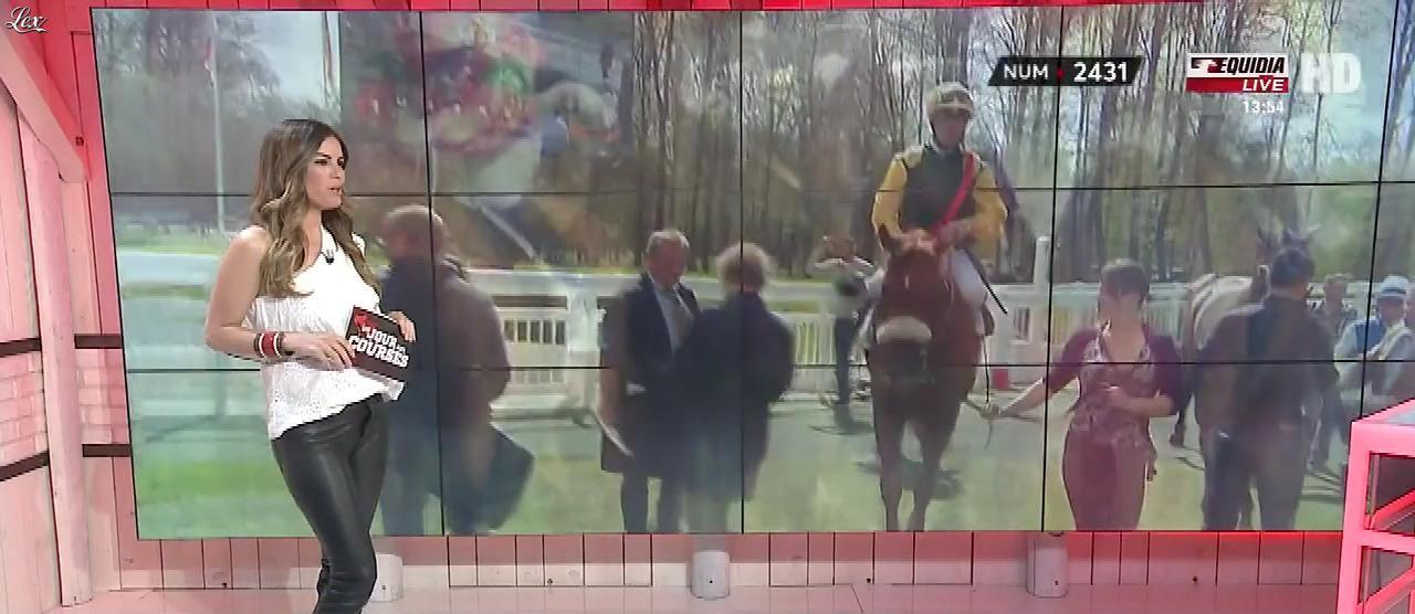 Amélie Bitoun dans un Jour aux Courses. Diffusé à la télévision le 03/04/17.