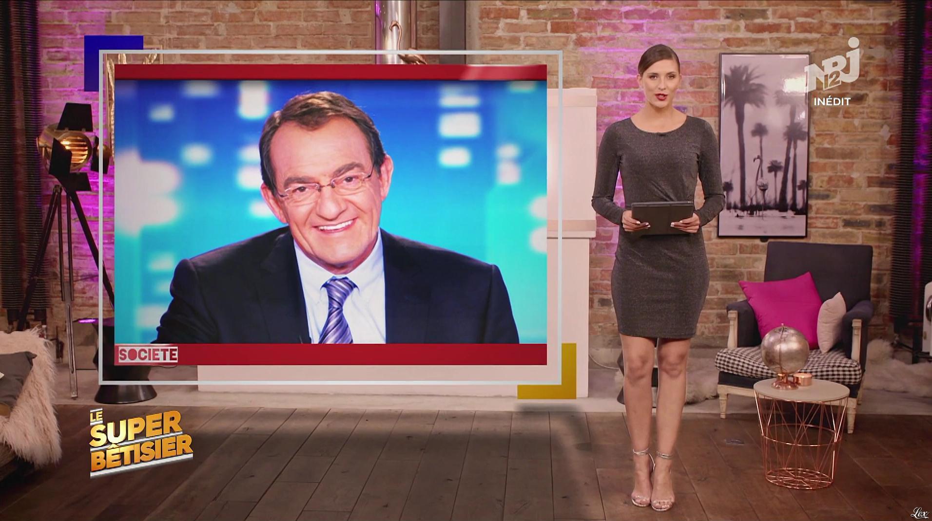 Camille Cerf dans le Super Bêtisier. Diffusé à la télévision le 30/12/17.