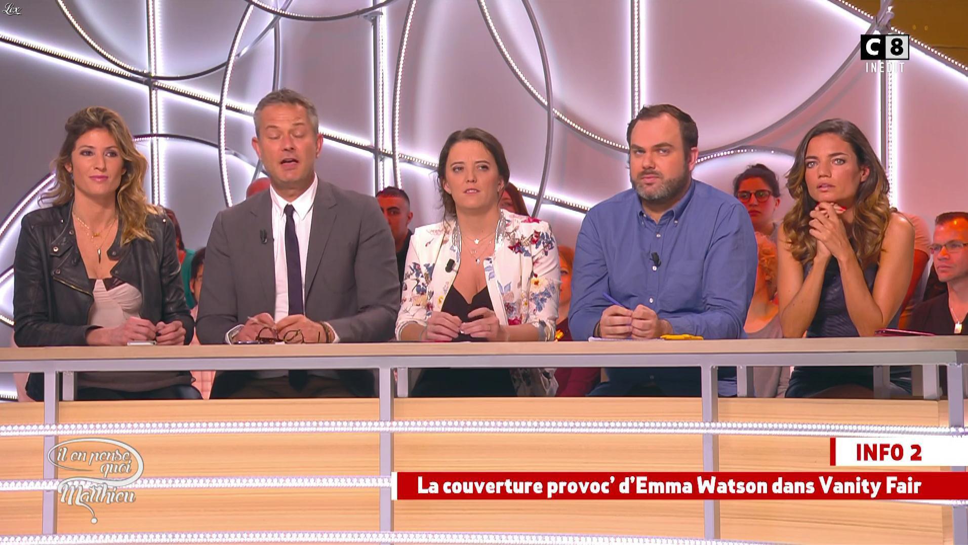 Caroline Ithurbide et FrancesÇa Antoniotti dans Il en Pense Quoi Matthieu. Diffusé à la télévision le 10/03/17.