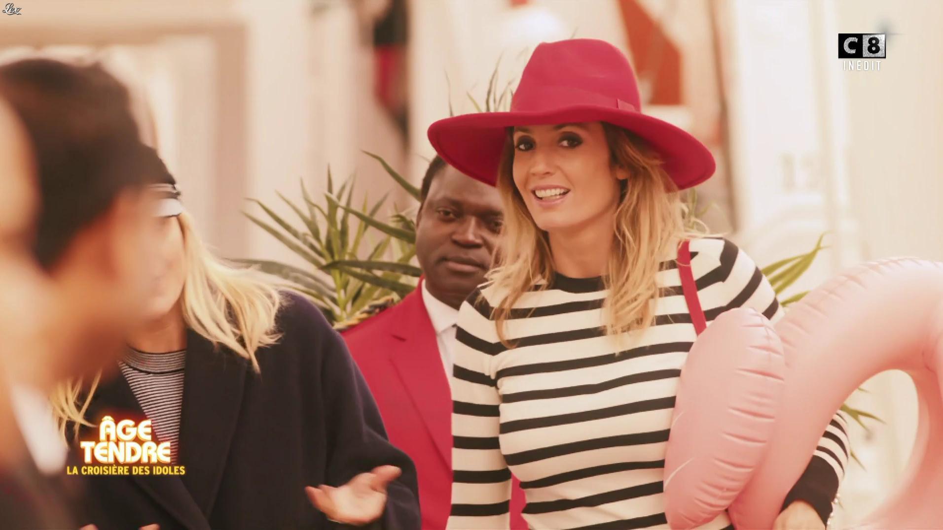 Caroline Ithurbide dans la Croisiere des Idoles. Diffusé à la télévision le 25/12/17.