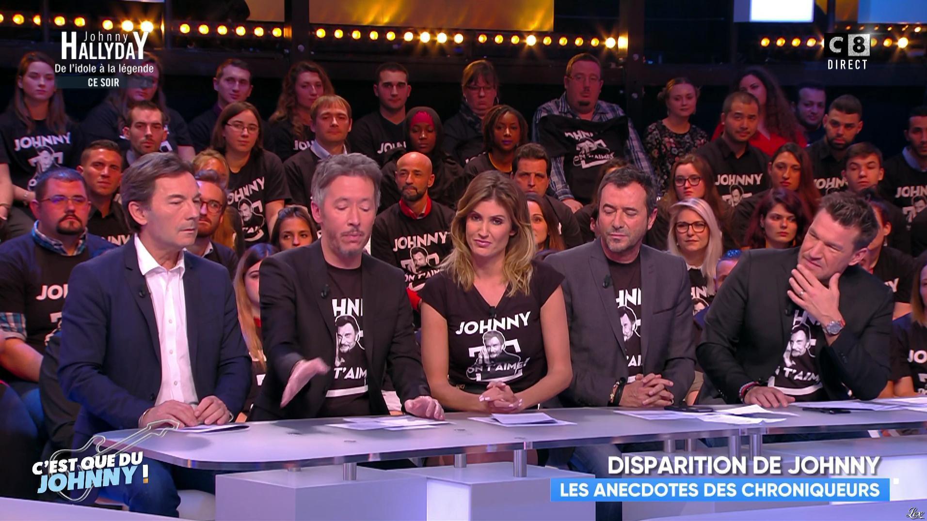 Caroline Ithurbide dans Touche pas à mon Poste. Diffusé à la télévision le 06/12/17.