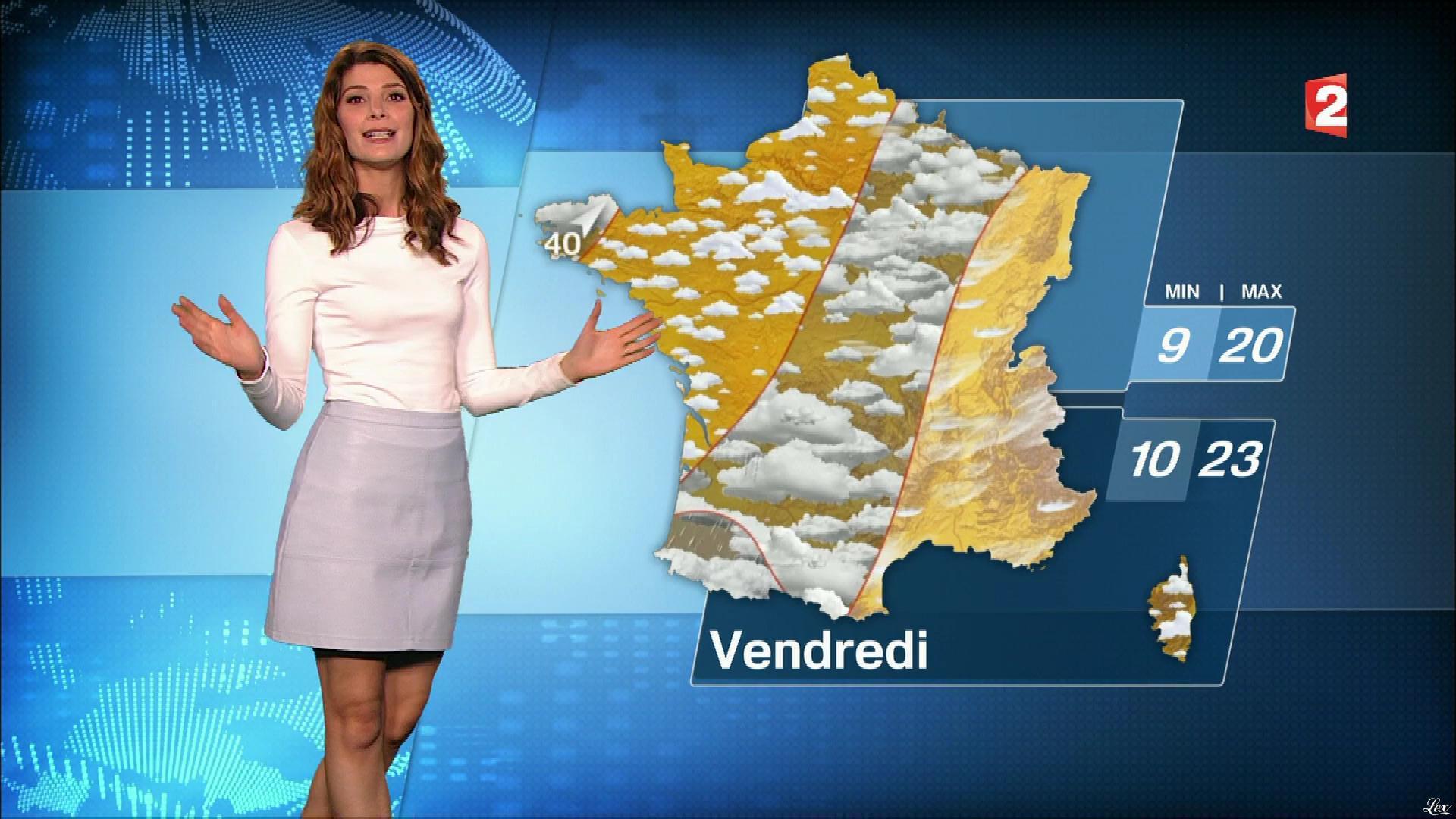 Chloé Nabédian à la Météo de 13h. Diffusé à la télévision le 20/09/17.