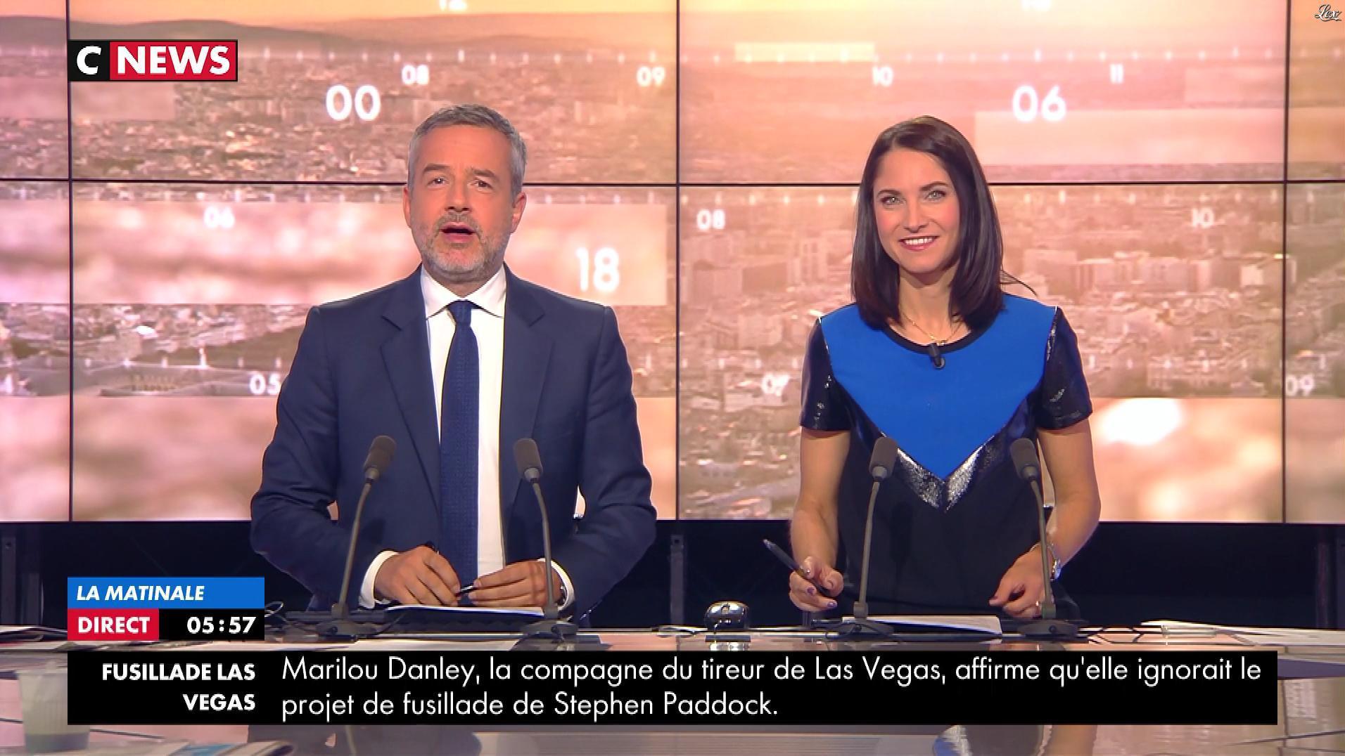 Clelie Mathias dans la Matinale de C News. Diffusé à la télévision le 05/10/17.
