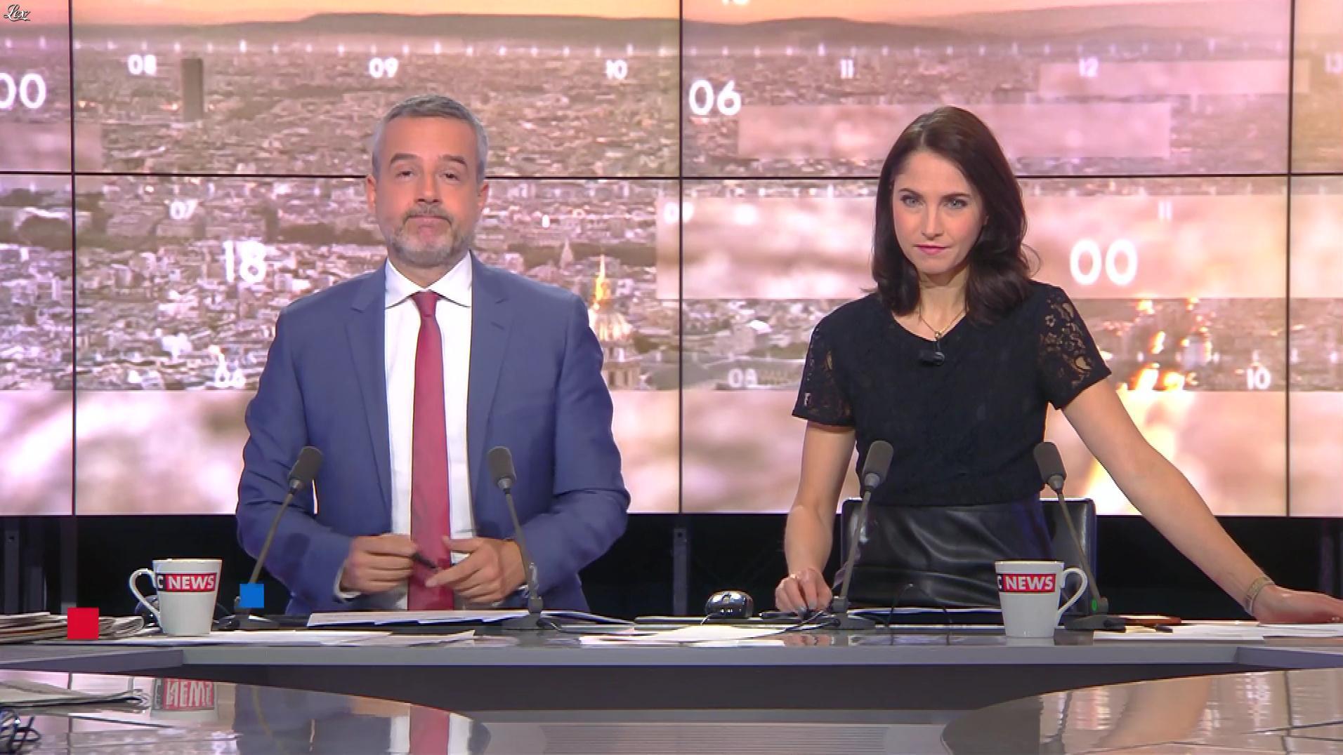 Clélie Mathias dans la Matinale de C News. Diffusé à la télévision le 28/11/17.