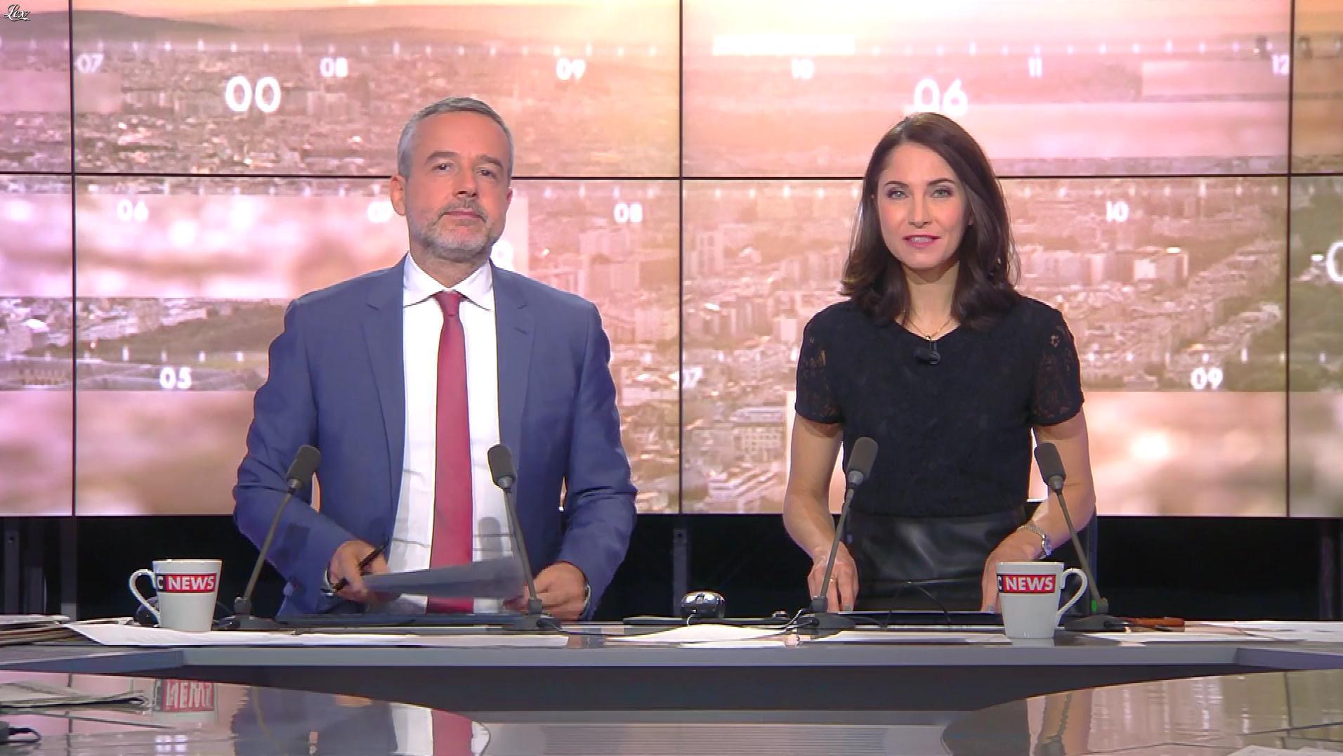 Clelie Mathias dans la Matinale de C News. Diffusé à la télévision le 28/11/17.