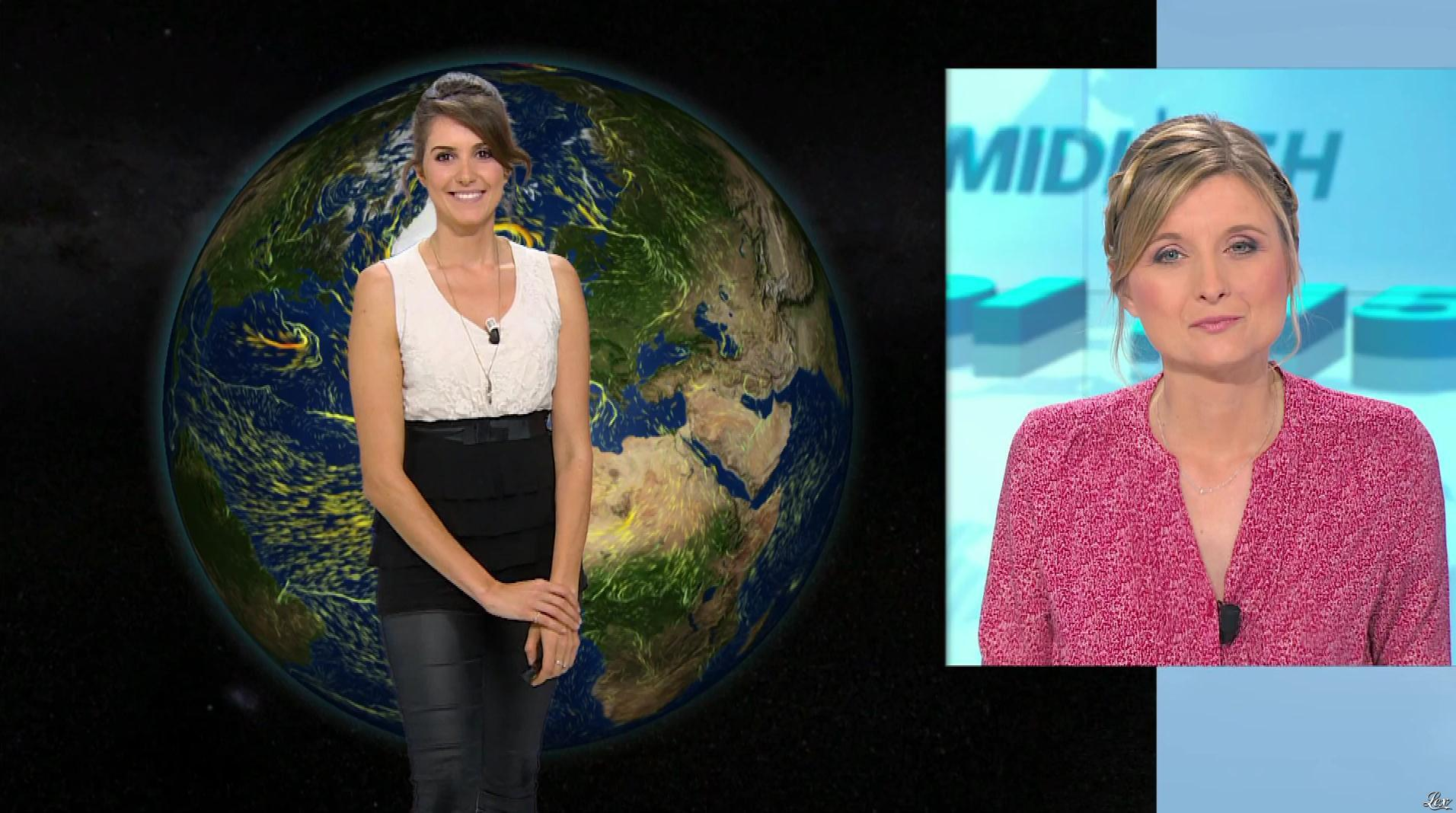 Fanny Agostini à la Météo de BFM TV. Diffusé à la télévision le 01/02/17.