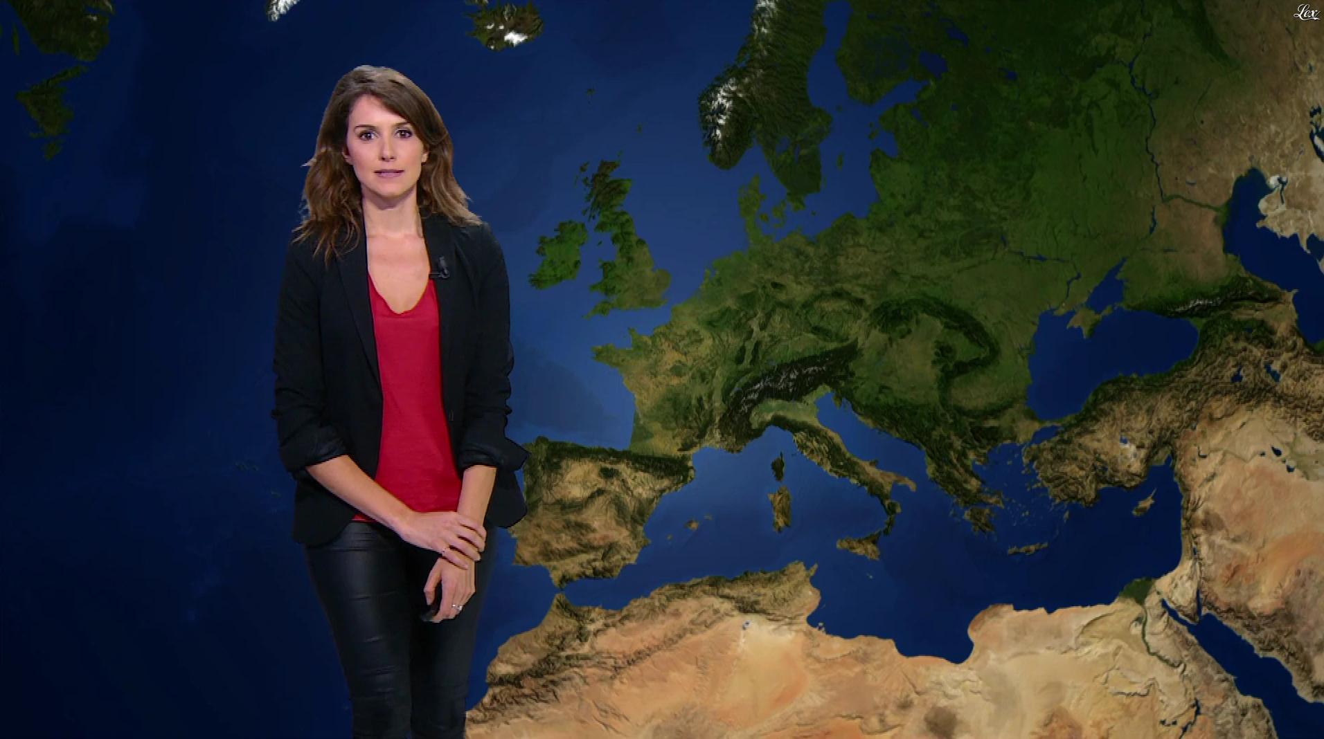 Fanny Agostini à la Météo de BFM TV. Diffusé à la télévision le 03/02/17.