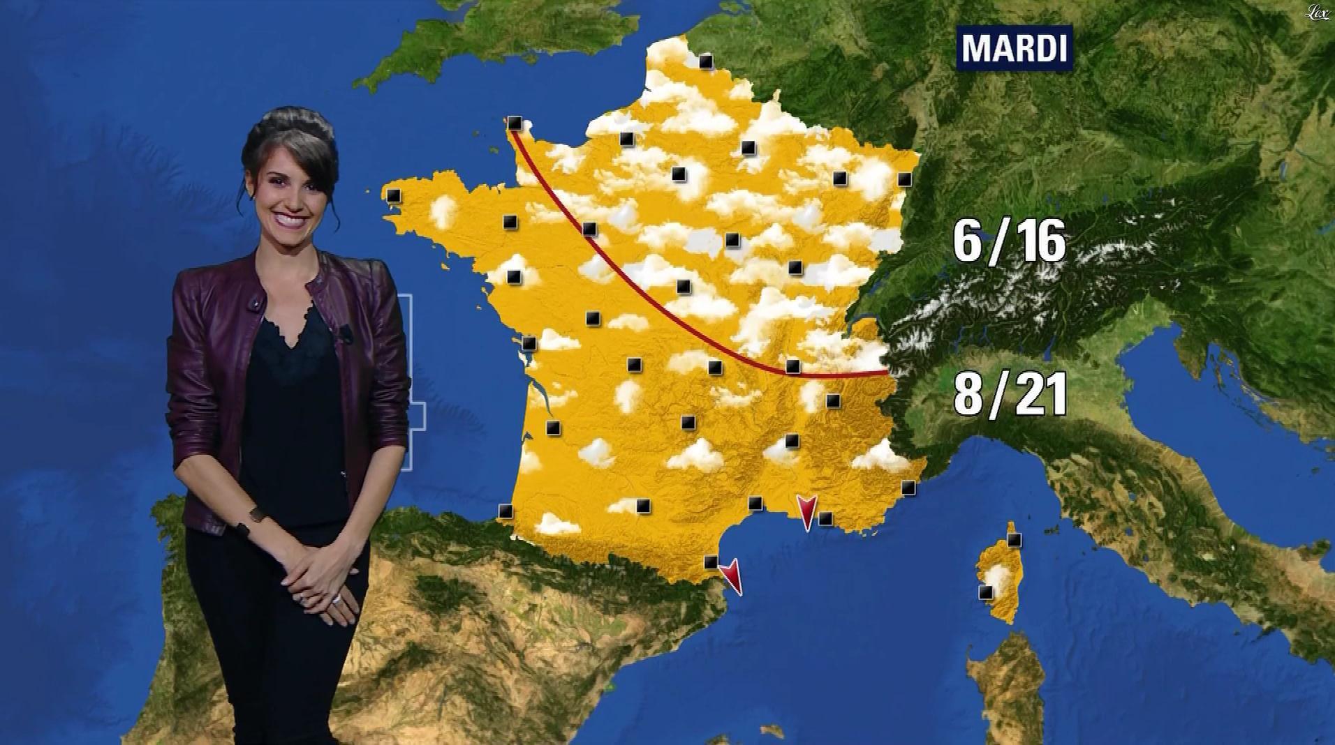 Fanny Agostini à la Météo de BFM TV. Diffusé à la télévision le 05/05/17.