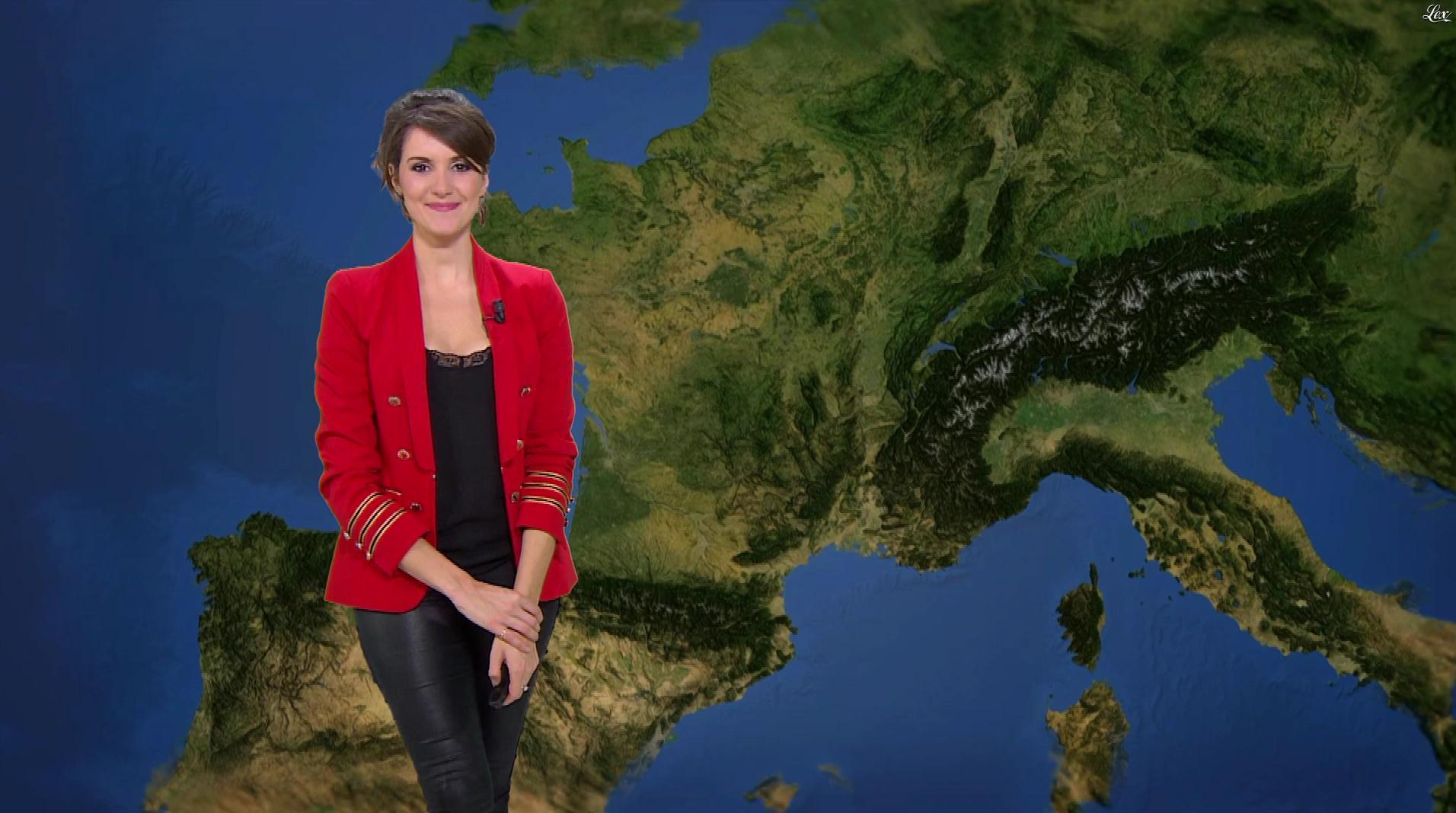 Fanny Agostini à la Météo de BFM TV. Diffusé à la télévision le 07/03/17.