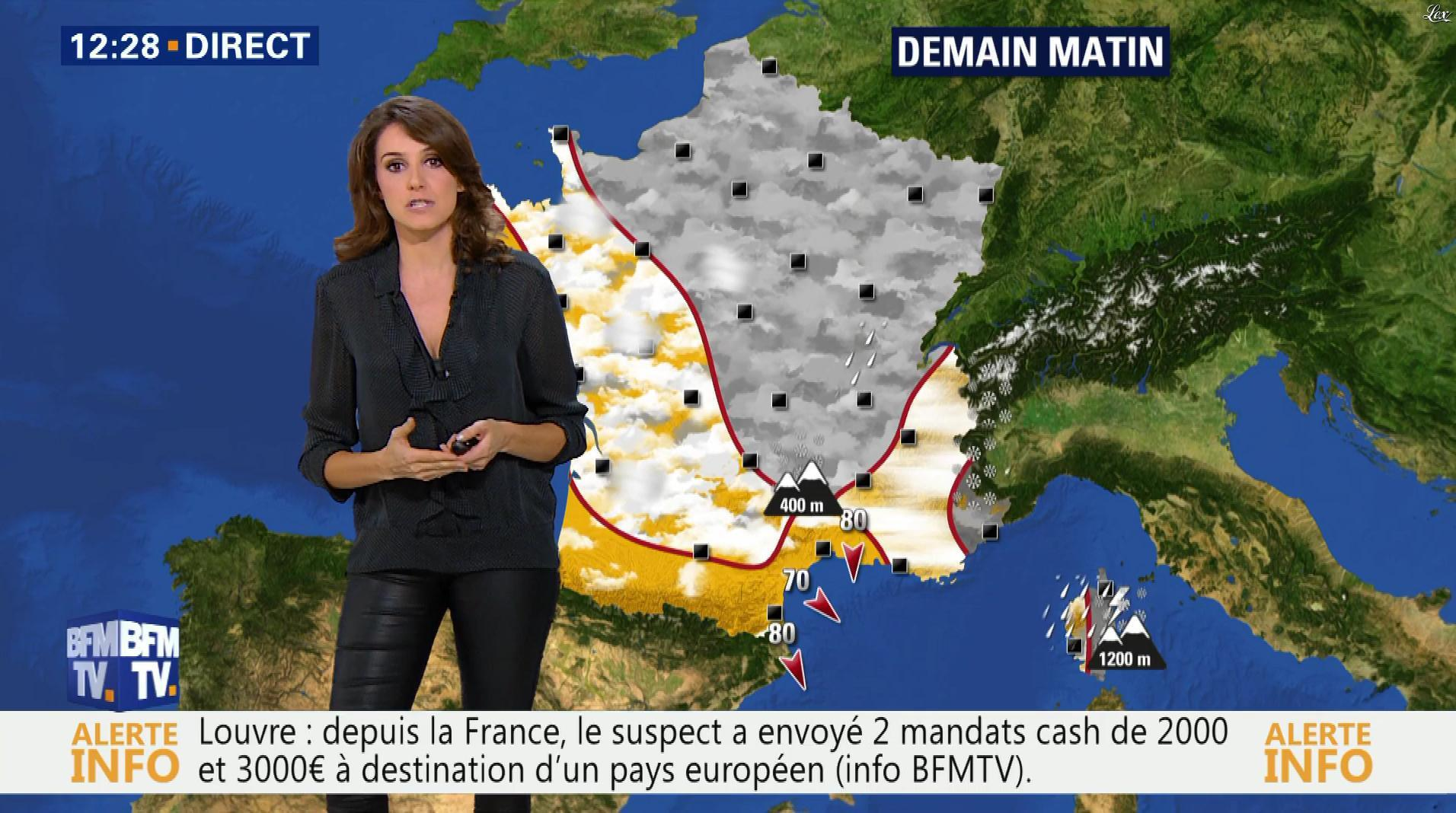 Fanny Agostini à la Météo de BFM TV. Diffusé à la télévision le 08/02/17.
