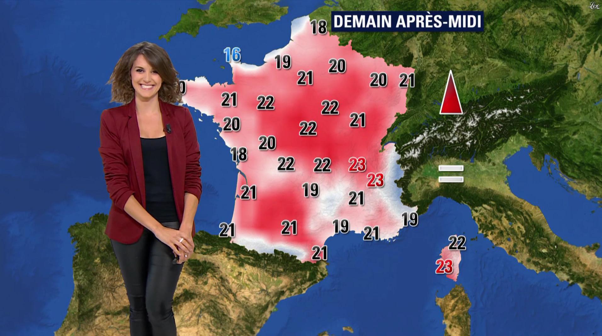 Fanny Agostini à la Météo de BFM TV. Diffusé à la télévision le 09/05/17.