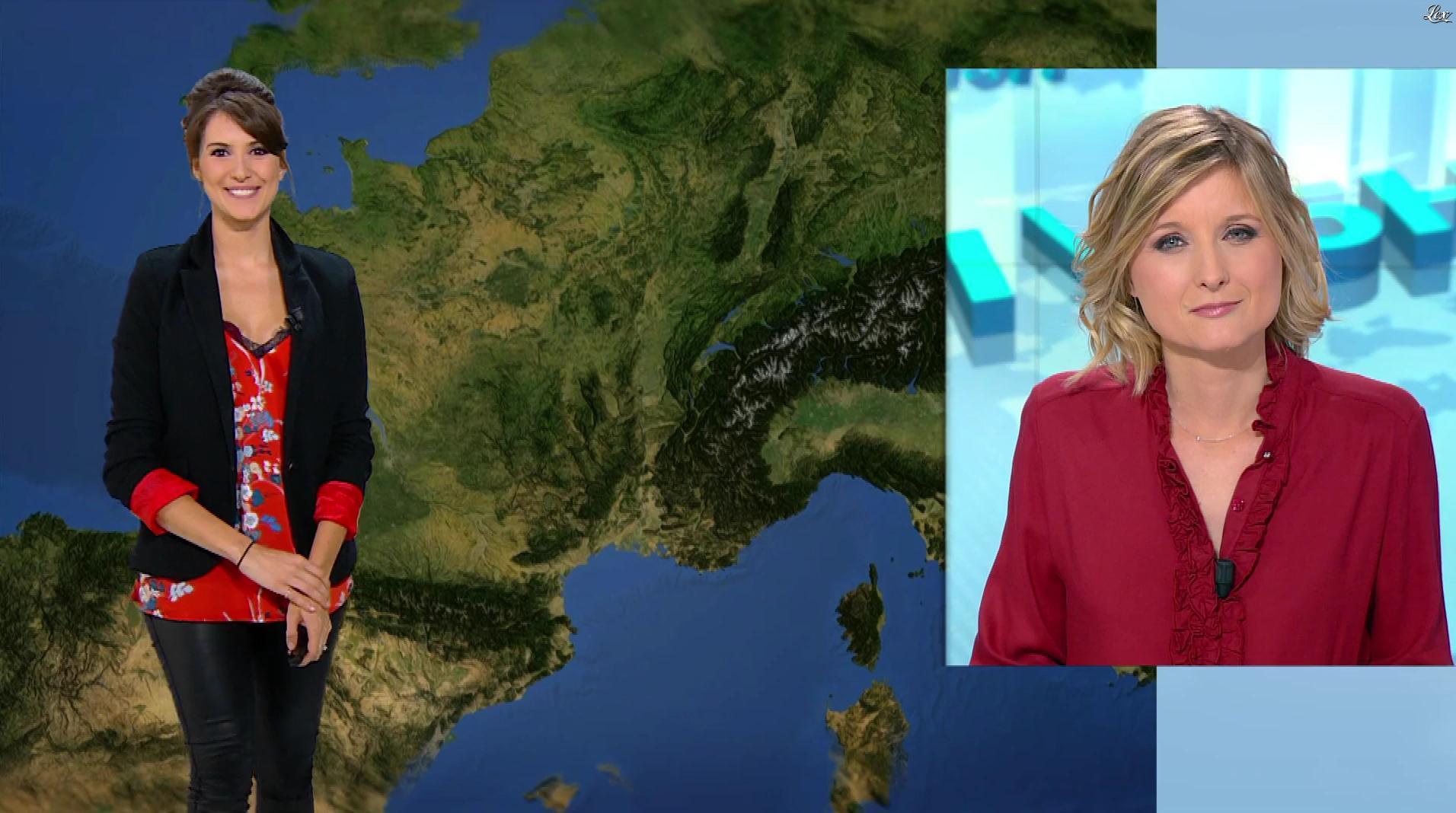 Fanny Agostini à la Météo de BFM TV. Diffusé à la télévision le 10/02/17.