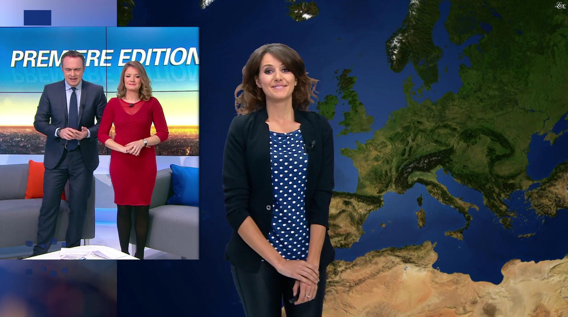 Fanny Agostini à la Météo de BFM TV. Diffusé à la télévision le 16/01/17.