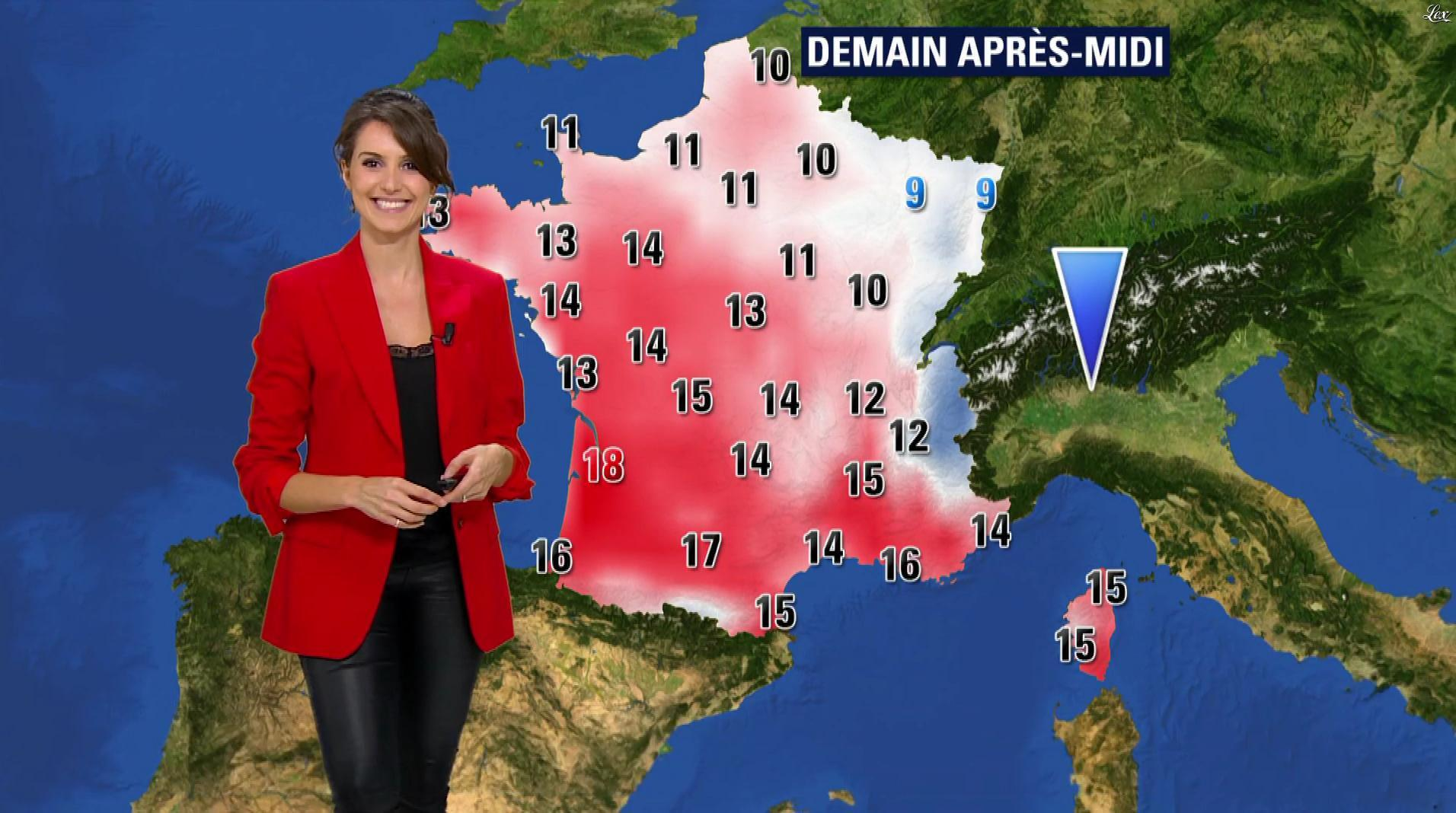 Fanny Agostini à la Météo de BFM TV. Diffusé à la télévision le 16/02/17.