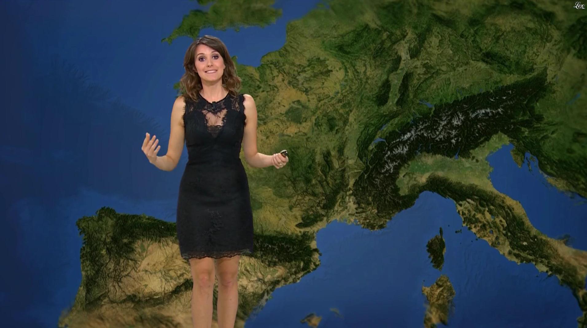 Fanny Agostini à la Météo de BFM TV. Diffusé à la télévision le 17/03/17.