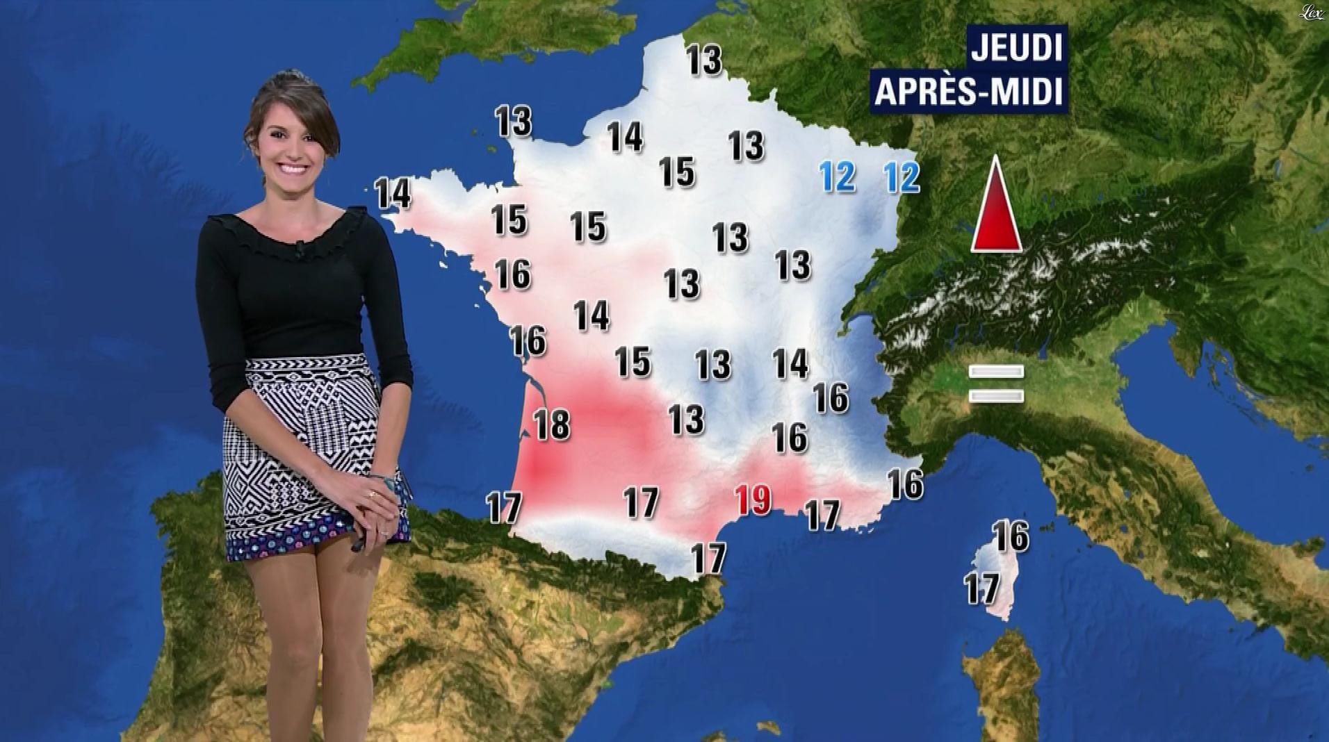 Fanny Agostini à la Météo de BFM TV. Diffusé à la télévision le 19/04/17.