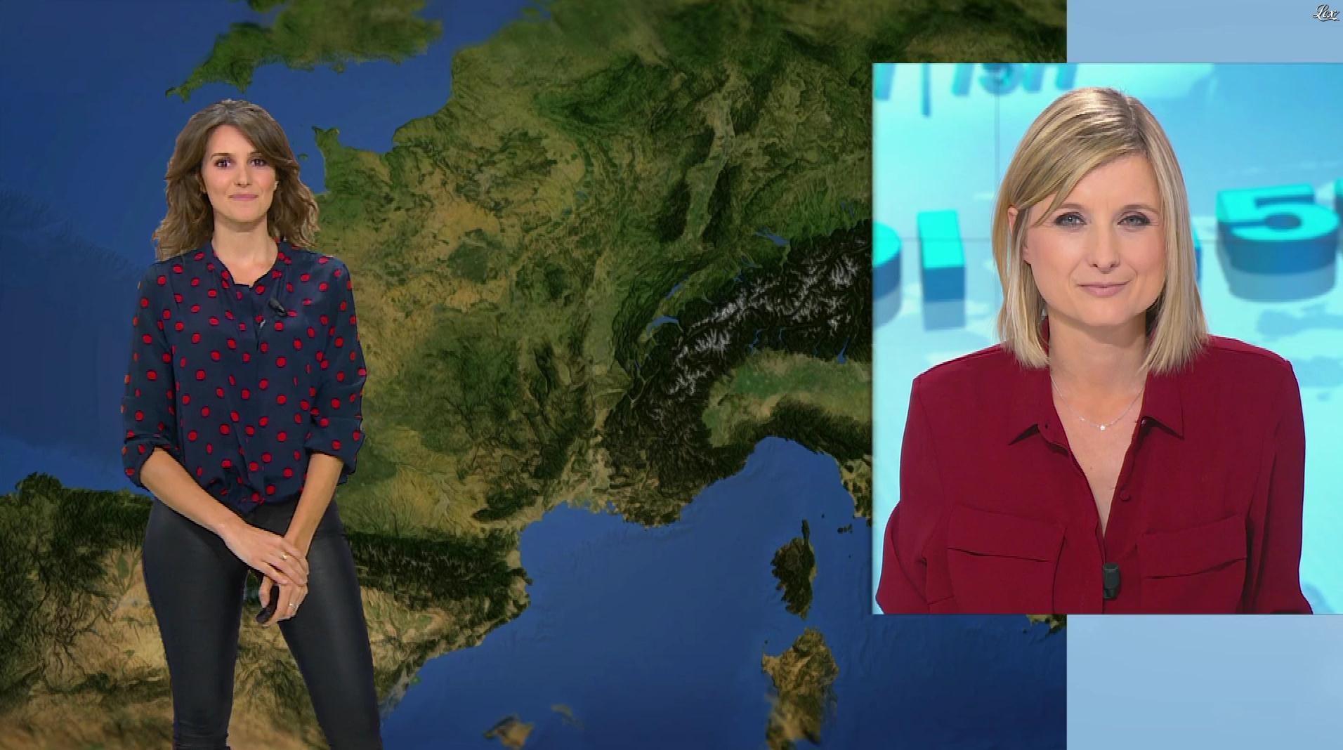 Fanny Agostini à la Météo de BFM TV. Diffusé à la télévision le 20/12/16.
