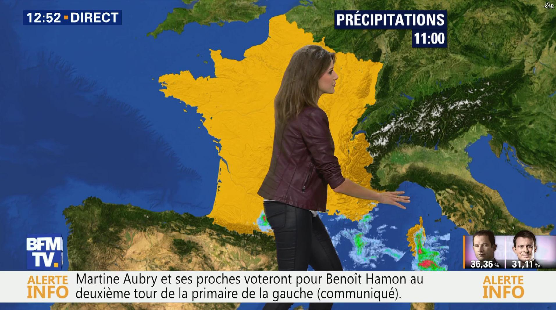 Fanny Agostini à la Météo de BFM TV. Diffusé à la télévision le 23/01/17.